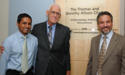 Dr. Sumit Agrawal, Tom Allison and Dr. Lorne Parnes